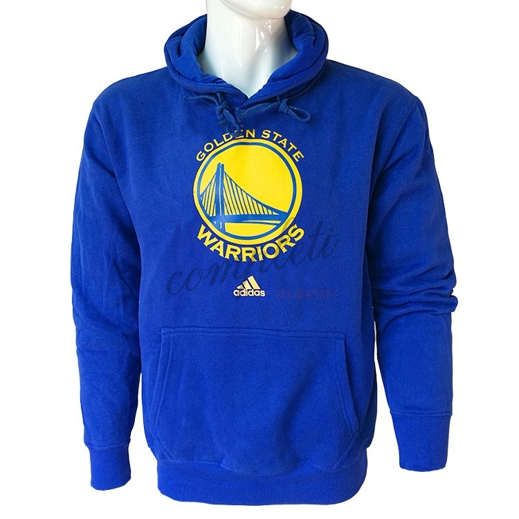 Comprare Felpe Con Cappuccio NBA Golden State Warriors Blu City