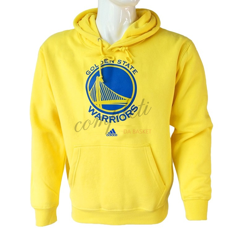Comprare Felpe Con Cappuccio NBA Golden State Warriors Giallo City