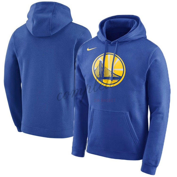 Comprare Felpe Con Cappuccio NBA Golden State Warriors Nike Blu