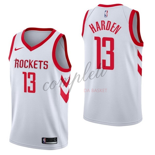 Comprare Maglia NBA Nike Houston Rockets NO.13 James Harden Bianco Association