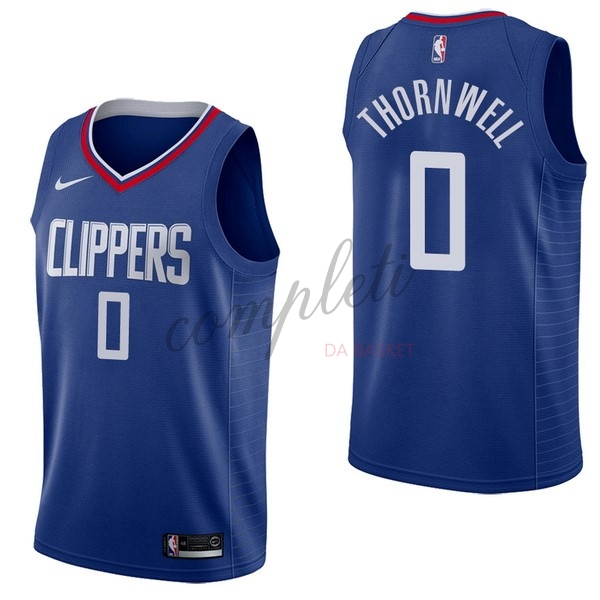 Comprare Maglia NBA Nike Los Angeles Clippers NO.0 Sindarius Thornwell Blu Icon
