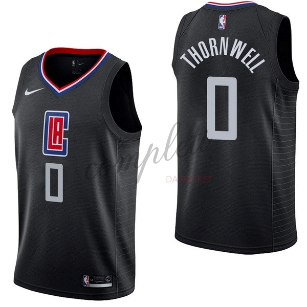 Comprare Maglia NBA Nike Los Angeles Clippers NO.0 Sindarius Thornwell Nero Statement