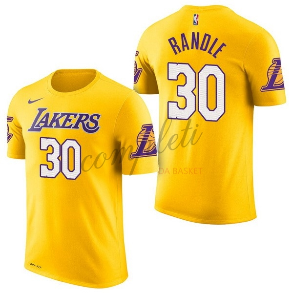 Comprare Maglia NBA Nike Los Angeles Lakers Manica Corta NO.30 Julius Randle Giallo