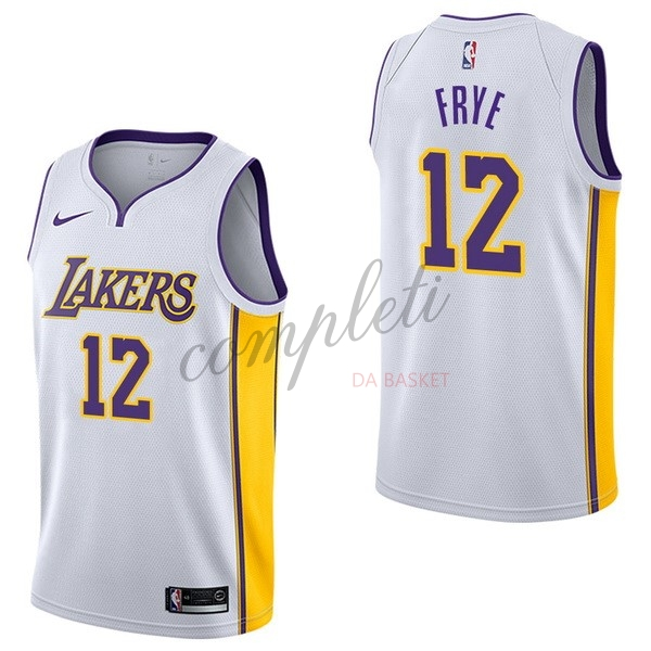 Comprare Maglia NBA Nike Los Angeles Lakers NO.12 Channing Frye Bianco Association