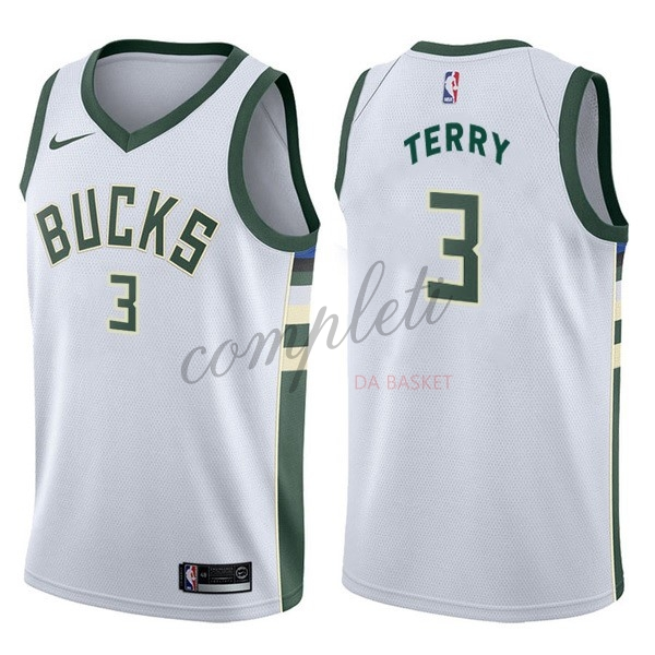 Comprare Maglia NBA Nike Milwaukee Bucks NO.3 Jason Terry Bianco Association