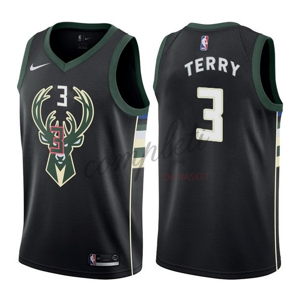 Comprare Maglia NBA Nike Milwaukee Bucks NO.3 Jason Terry Nero Statement