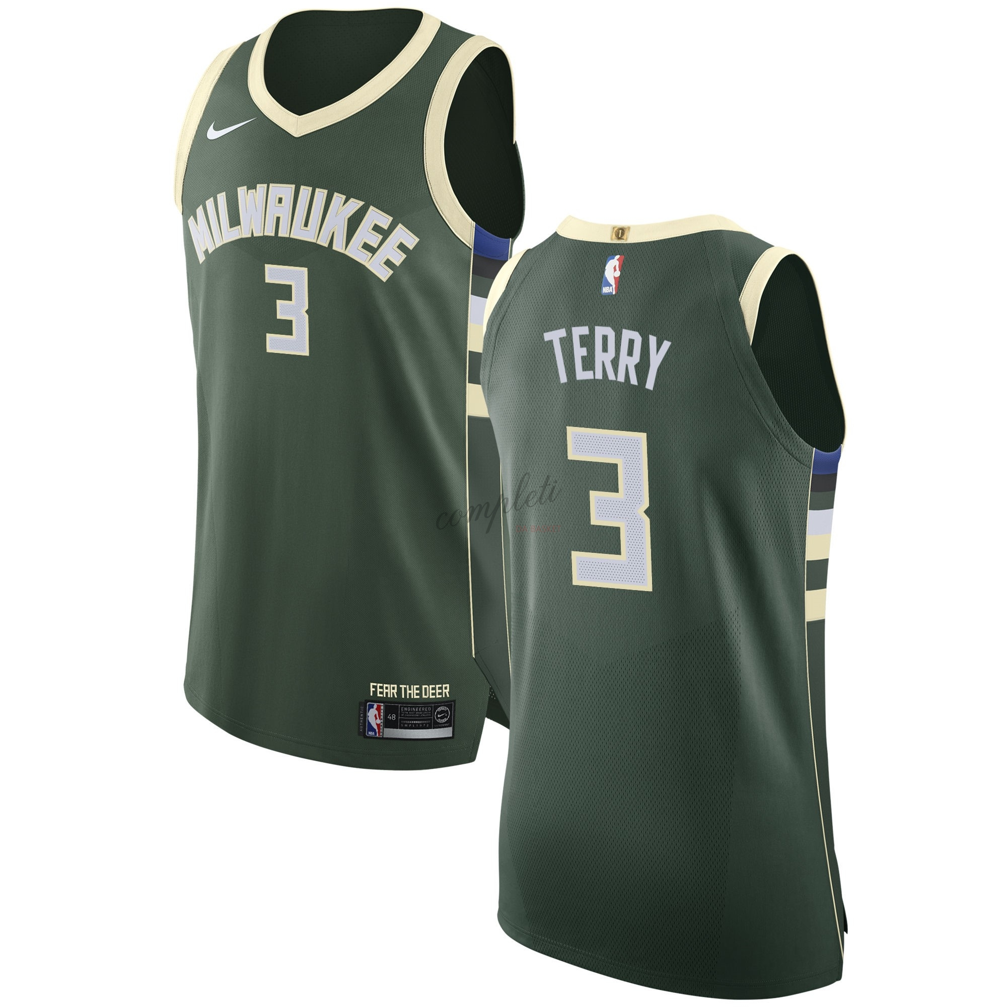 Comprare Maglia NBA Nike Milwaukee Bucks NO.3 Jason Terry Verde Icon