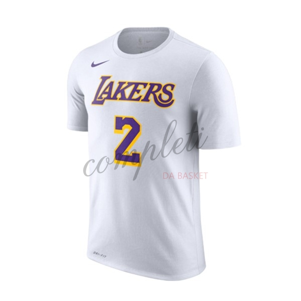 Comprare Maglia NBA Nike Los Angeles Lakers Manica Corta NO.2 Lonzo Ball Bianco Association 2018-19