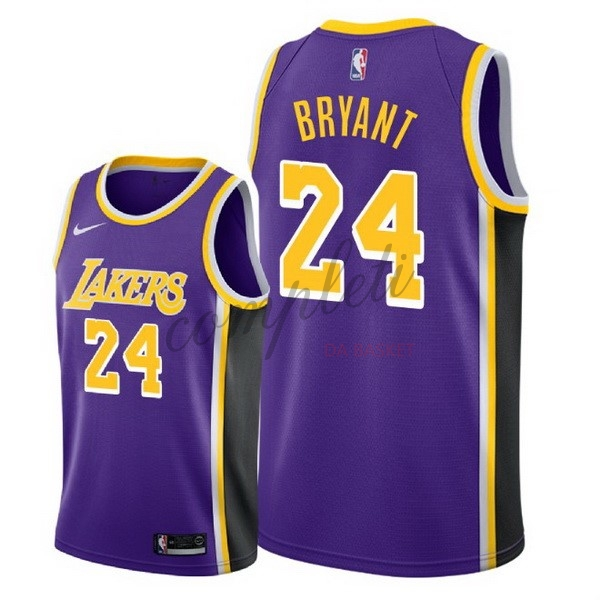 Comprare Maglia NBA Nike Los Angeles Lakers NO.24 Kobe Bryant Porpora Statement 2018-19