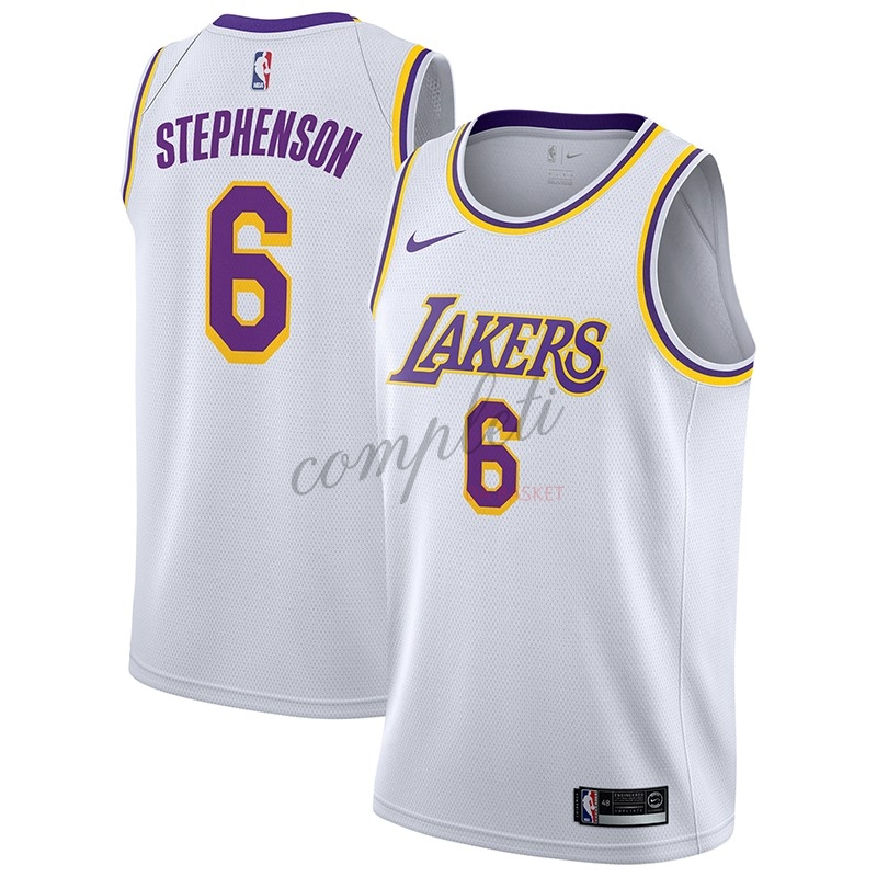 Comprare Maglia NBA Nike Los Angeles Lakers NO.6 Lance Stephenson Bianco Association 2018-19