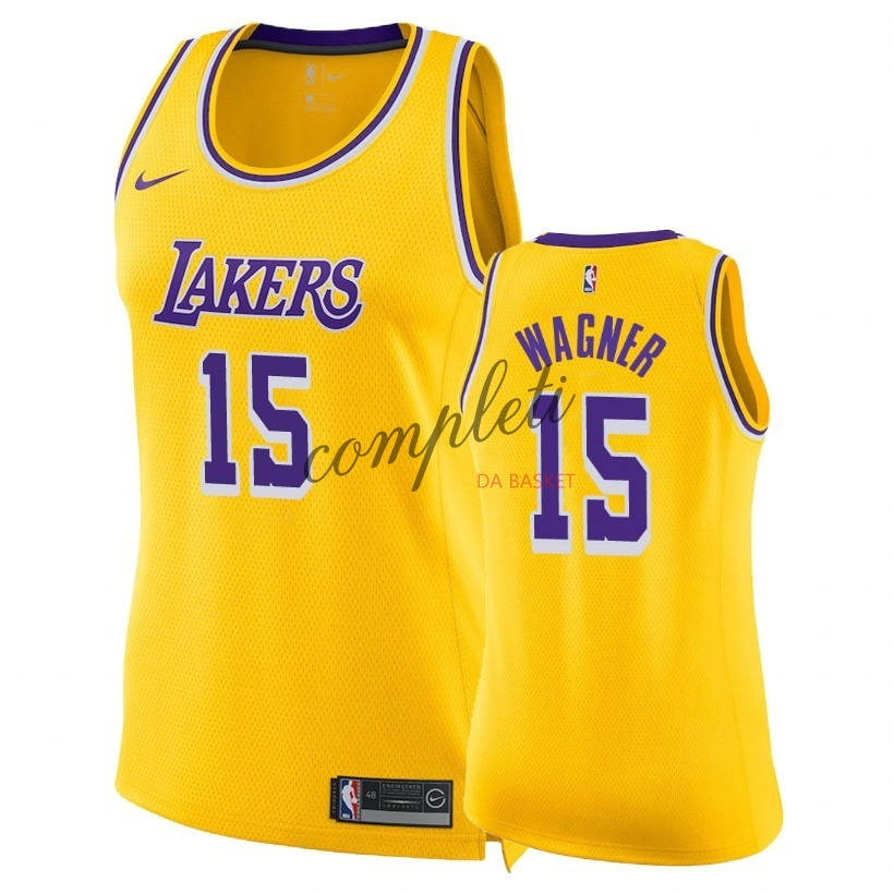 Comprare Maglia NBA Donna Los Angeles Lakers NO.15 Moritz Wagner Giallo Icon 2018-19