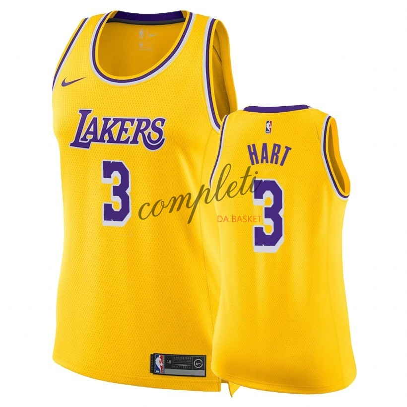Comprare Maglia NBA Donna Los Angeles Lakers NO.3 Josh Hart Giallo Icon 2018-19