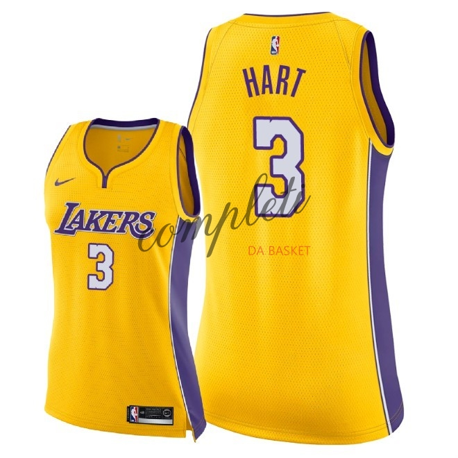 Comprare Maglia NBA Donna Los Angeles Lakers NO.3 Josh Hart Giallo Icon 2018