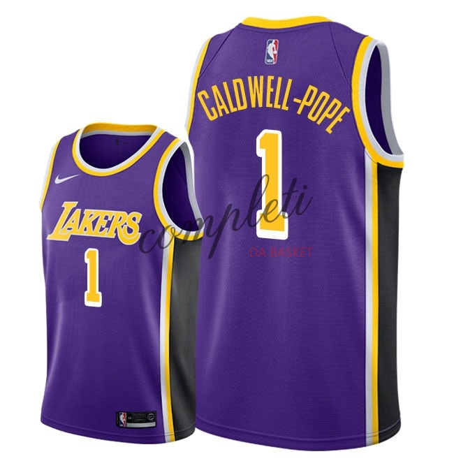 Comprare Maglia NBA Nike Los Angeles Lakers NO.1 Kentavious Caldwell Pope Porpora Statement 2018-19