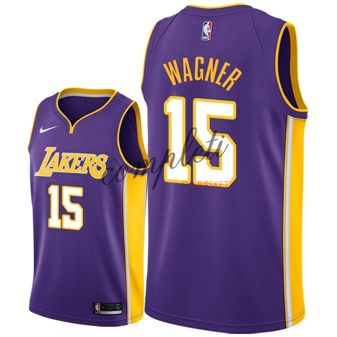 Comprare Maglia NBA Nike Los Angeles Lakers NO.15 Moritz Wagner Porpora Statement 2018