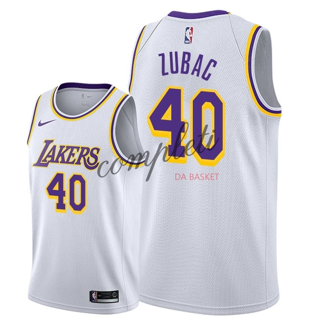 Comprare Maglia NBA Nike Los Angeles Lakers NO.40 Ivica Zubac Bianco Association 2018-19