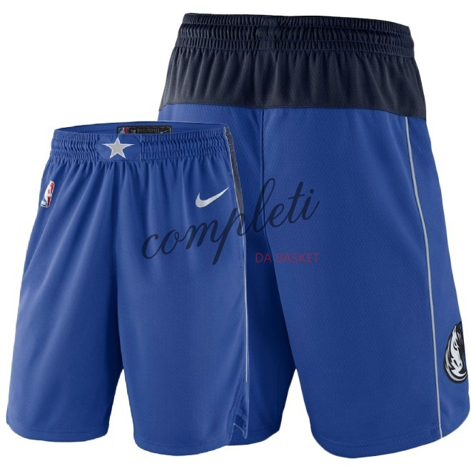 Comprare Pantaloni Basket Dallas Mavericks Nike Blu 2018