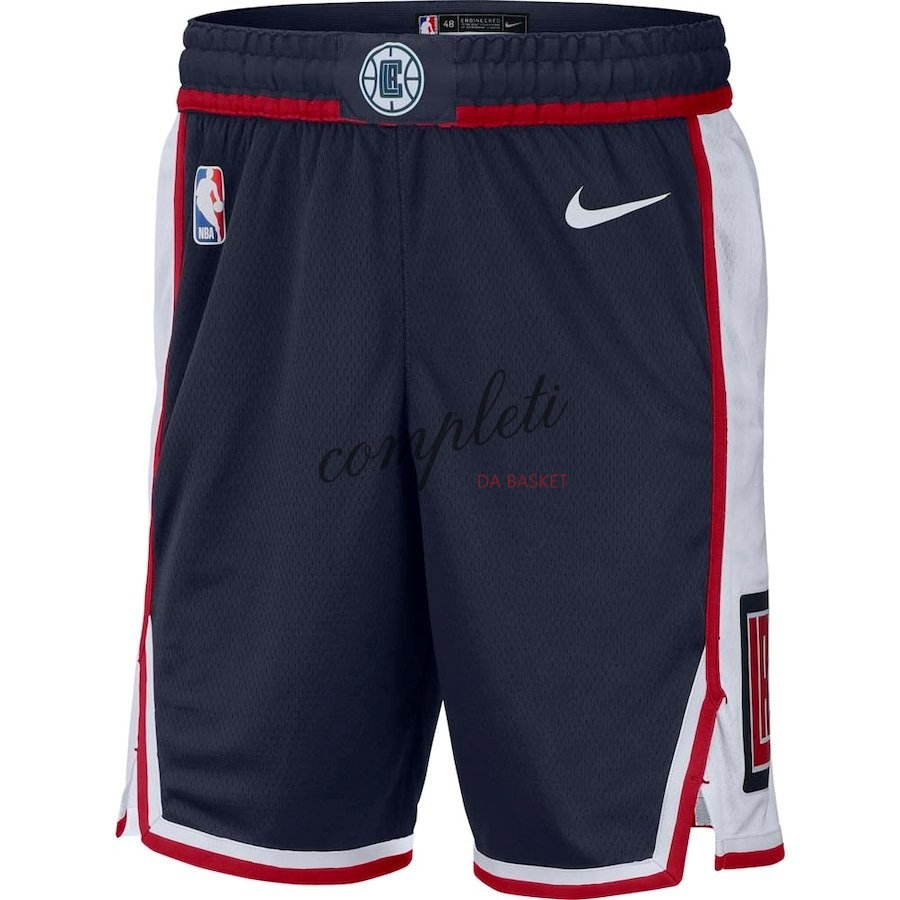 Comprare Pantaloni Basket Los Angeles Clippers Nike Marino Città 2018-19