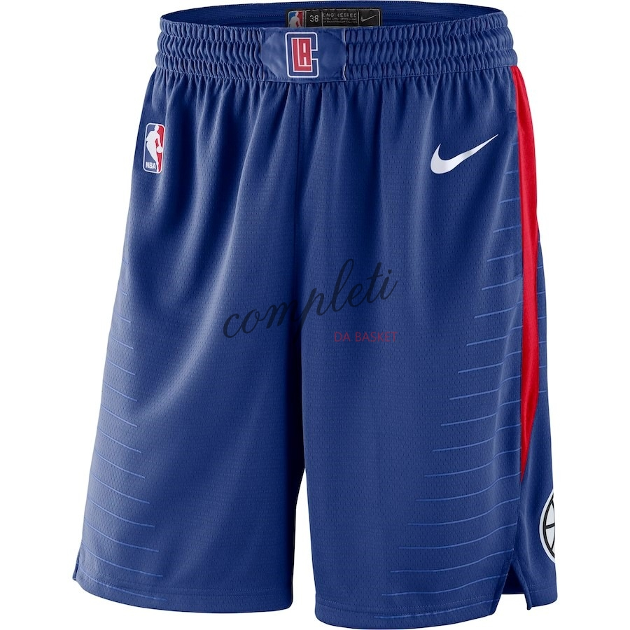Comprare Pantaloni Basket Los Angeles Clippers Nike Reale Blu 2018
