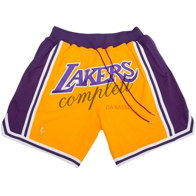 Comprare Pantaloni Basket Los Angeles Lakers Nike Retro Giallo 2018