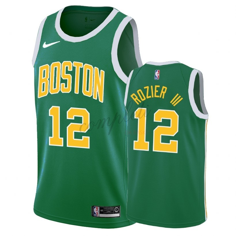 Comprare Maglia NBA Earned Edition Boston Celtics NO.12 Terry Rozier III Verde 2018-19
