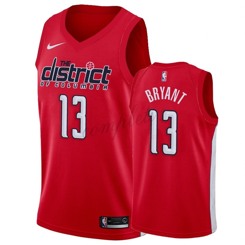 Comprare Maglia NBA Earned Edition Washington Wizards NO.13 Thomas Bryant Rosso 2018-19