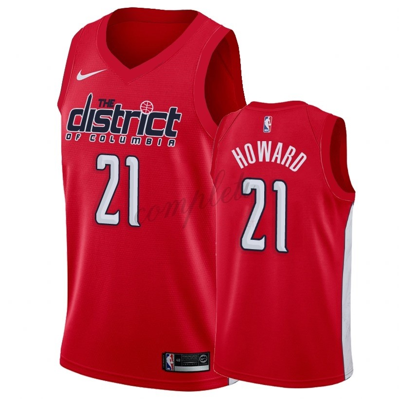 Comprare Maglia NBA Earned Edition Washington Wizards NO.21 Dwight Howard Rosso 2018-19