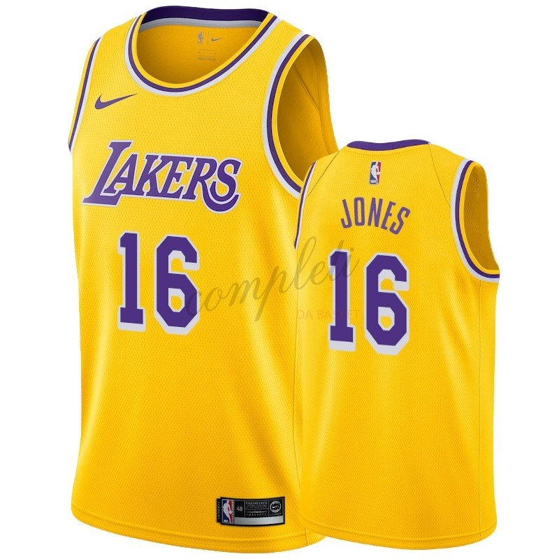 Comprare Maglia NBA Nike Los Angeles Lakers NO.16 Jemerrio Jones Giallo Icon 2018-19