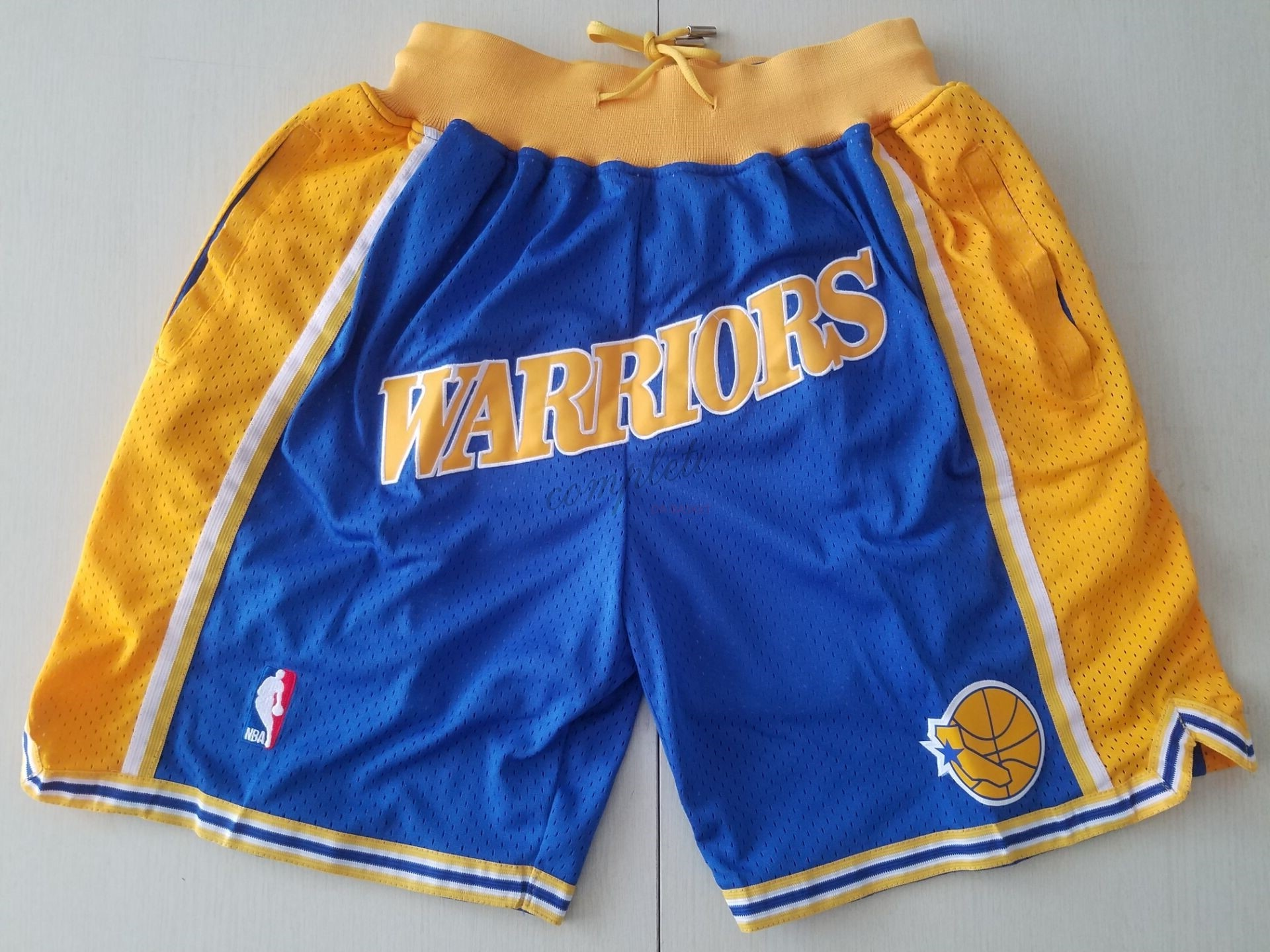 Comprare Pantaloni Basket Golden State Warriors Curry Blu