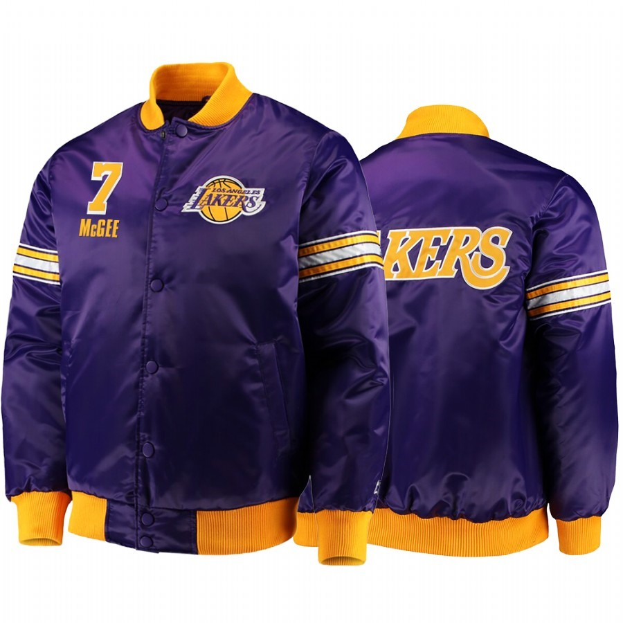 Comprare Giacca NBA Los Rockets Angeles Lakers NO.7 JaVale McGee Pourpre