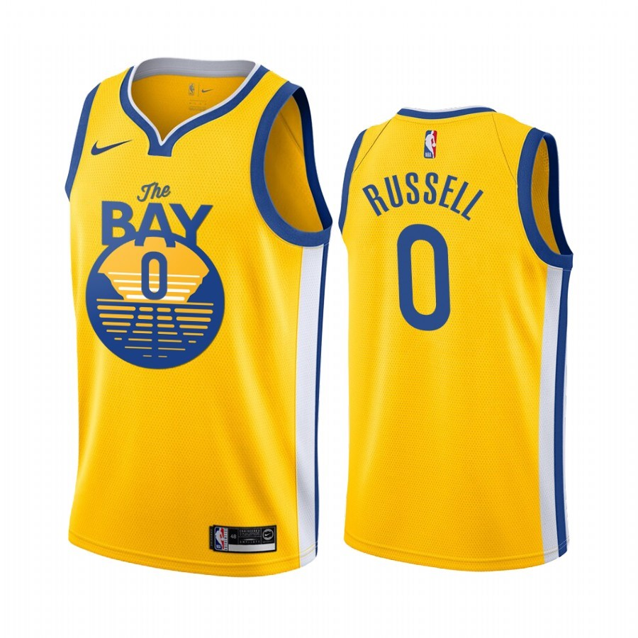 Comprare Maglia NBA Nike Golden State Warriors NO.0 D'Angelo Russell Jaune Città 2019-20