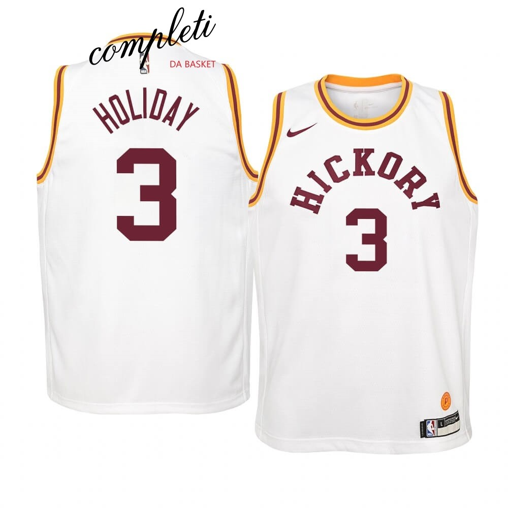 Comprare Maglia NBA Bambino Indiana Pacers NO.3 Aaron Holiday Nike Retro Bianco