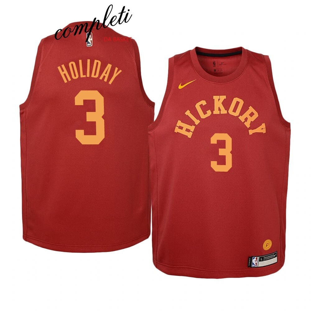 Comprare Maglia NBA Bambino Indiana Pacers NO.3 Aaron Holiday Nike Retro Marrone
