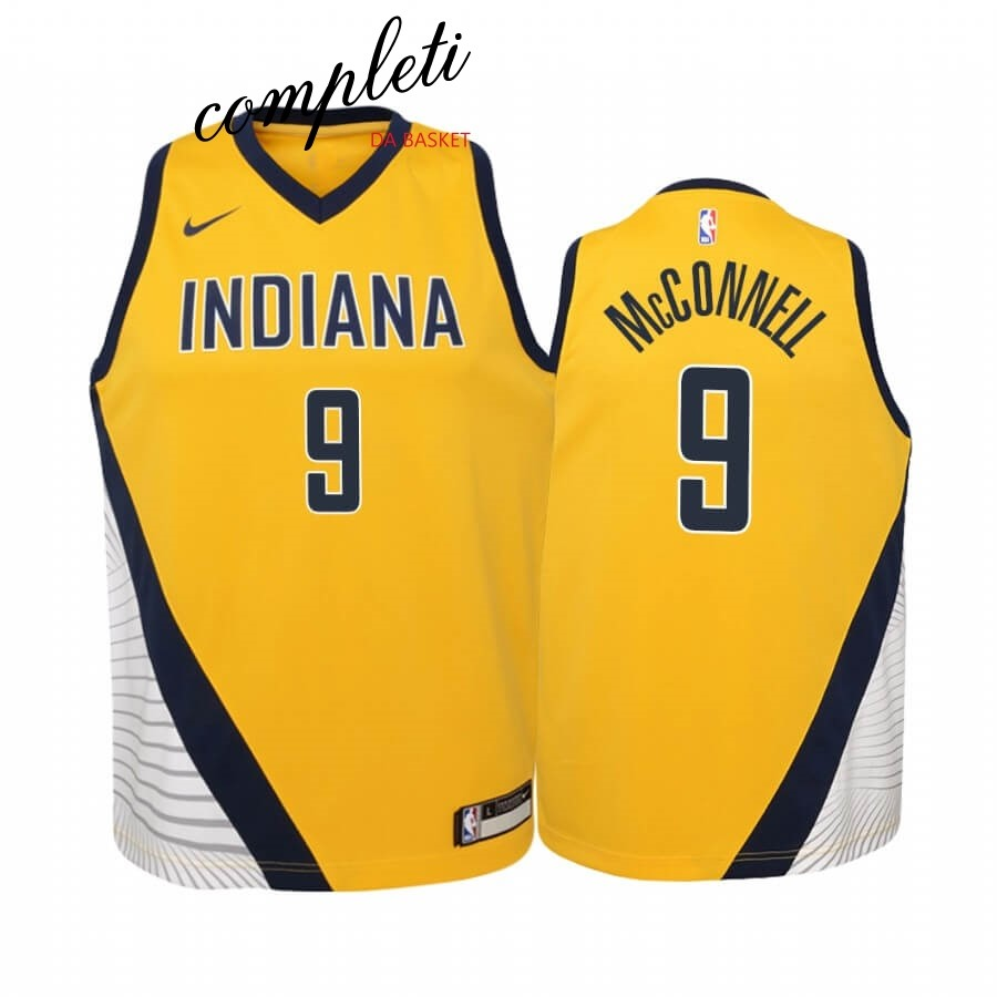 Comprare Maglia NBA Bambino Indiana Pacers NO.8 Justin Holiday Giallo Statement 2019-20