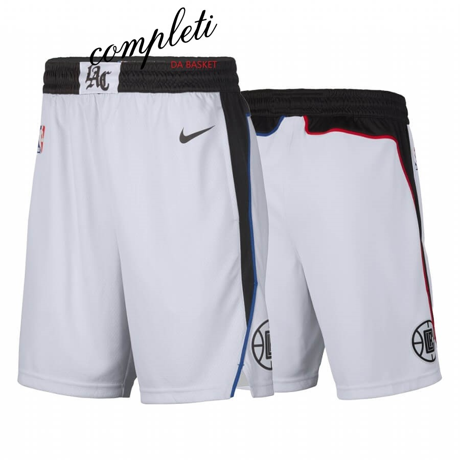 Comprare Pantaloni Basket Los Angeles Clippers Nike Bianco Città 2019-20