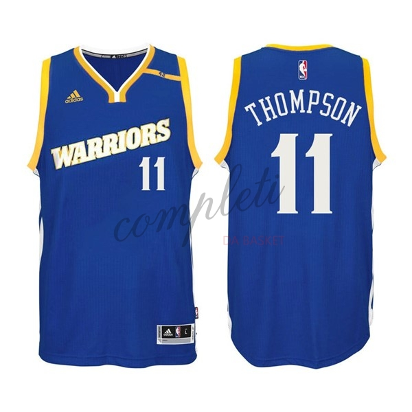 Comprare Maglia NBA Golden State Warriors NO.11 Klay Thompson 2016-2017 Blu