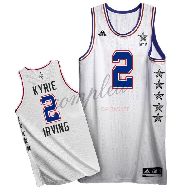 Comprare Maglia NBA 2015 All Star NO.2 Kyrie Irving Bianco