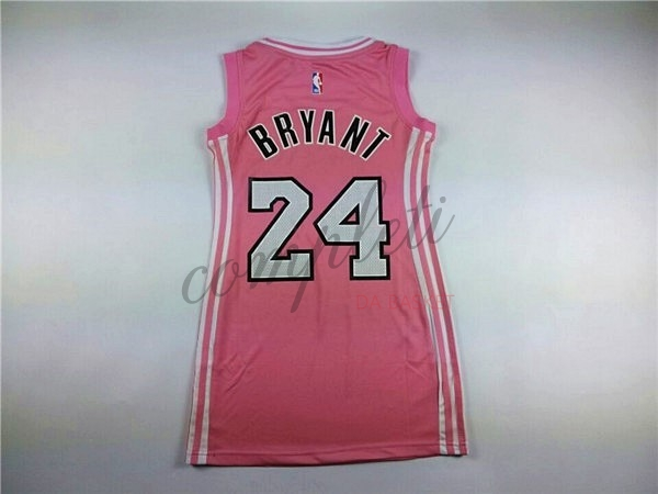 Comprare Maglia NBA Donna Los Angeles Lakers NO.24 Kobe Bryant Rose