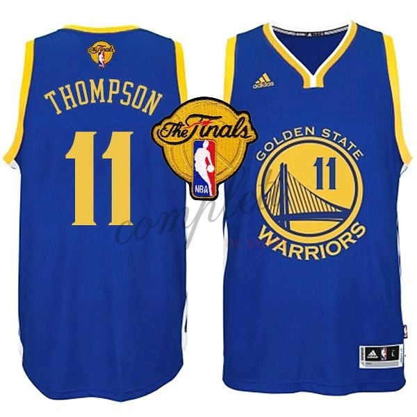 Comprare Maglia NBA Golden State Warriors Finale NO.11 Thompson Blu