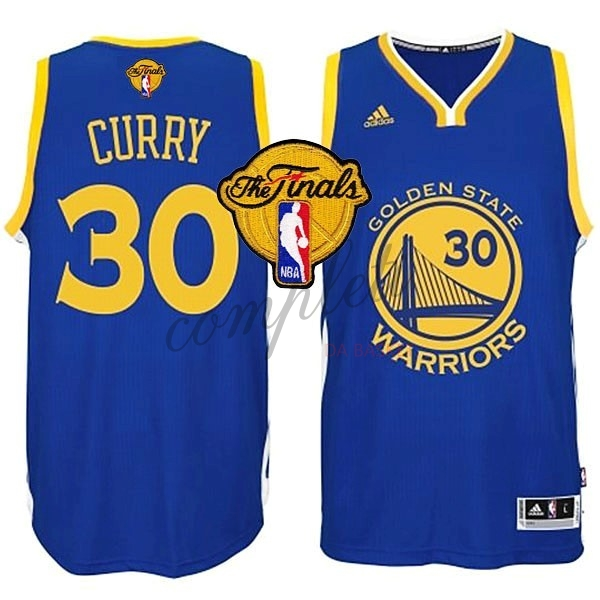 Comprare Maglia NBA Golden State Warriors Finale NO.30 Curry Blu