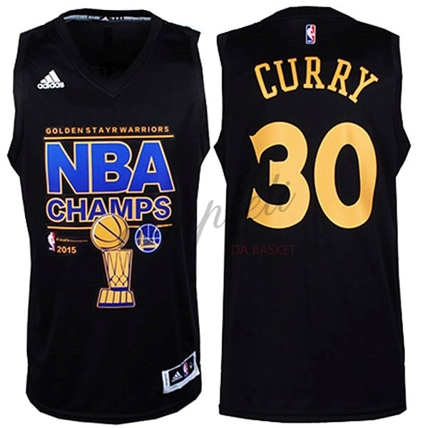 Comprare Maglia NBA Golden State Warriors Finale NO.30 Curry Nero