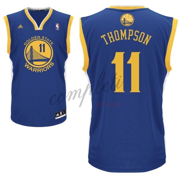 Comprare Maglia NBA Golden State Warriors NO.11 Klay Thompson Blu