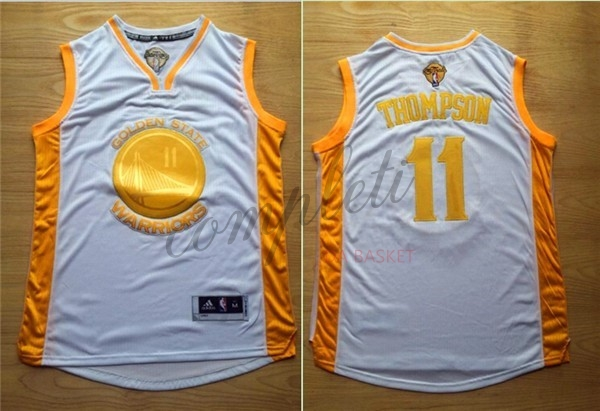 Comprare Maglia NBA Golden State Warriors NO.11 Klay Thompson Oro