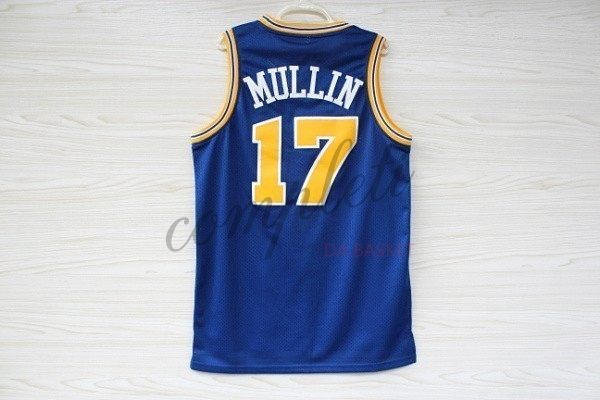 Comprare Maglia NBA Golden State Warriors NO.17 Chris Mullin Blu