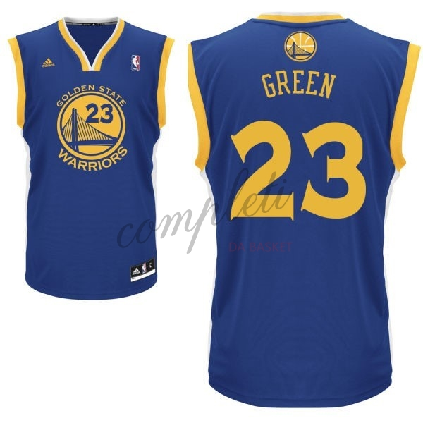 Comprare Maglia NBA Golden State Warriors NO.23 Draymond Green Blu