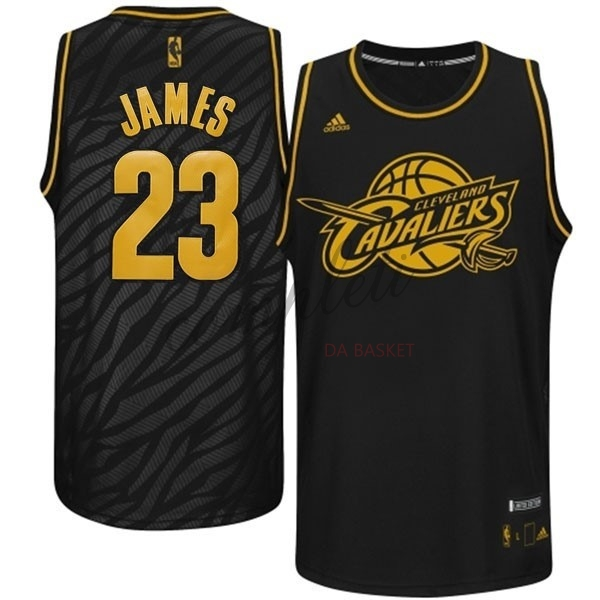 Comprare Maglia NBA Los Angeles Clippers Moda Metalli Preziosi NO.23 James Nero