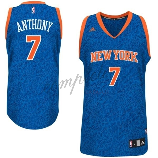 Comprare Maglia NBA New York Knicks Luce Leopard NO.7 Anthony Blu