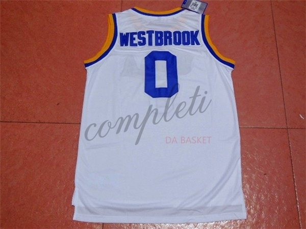 Comprare Maglia NCAA UCLA NO.0 Russell Westbrook Bianco