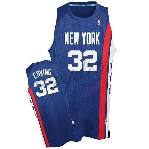 Comprare Maillo ABA Brooklyn Nets NO.32 Erving Blu