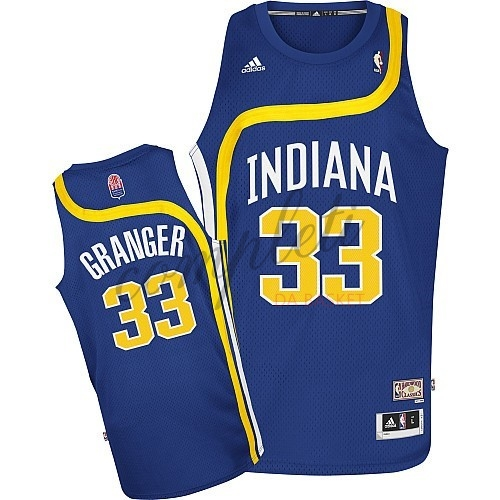 Comprare Maillo ABA Indiana Pacers NO.33 Granger Blu